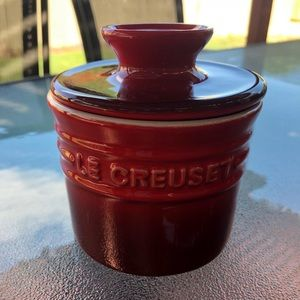 NEW Le Creuset stone butter bell crock cerise Red